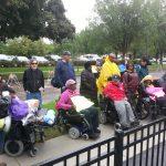 Demonstration at Alden Village North, Sept. 12, 2014. Photo for News & Letters by Franklin Dmitryev.