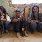 Kurds fighting in Kobane, October 2014.