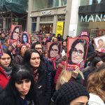 Women and men gather in Taksim Square in Istanbul, Turkey, Feb. 14, 2015, to protest the murder of Özgecan Aslan. Photo by Selim Girit