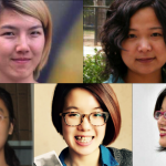 Five feminist Chinese activists arrested just before International Women's Day, 2015.
