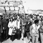 Commemorative march from Selma to Montgomery, Ala., March 8, 1975.
