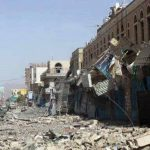 Street in Taiz destroyed by Houthis