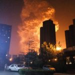Explosion of chemical warehouse in Tianjin, China.