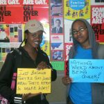 Members and friends of Lesbians Gays & Bisexuals of Botswana express themselves. Picture credit: https://www.flickr.com/ photos/legabibo/
