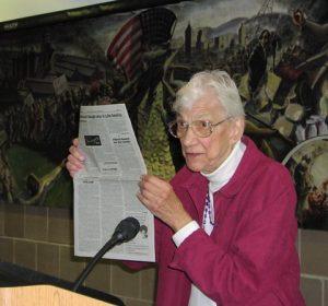 Olga Domanski speaking at meeting for the centenary of Raya Dunayevskaya, Detroit, Mich., Sept. 18, 2010.