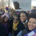 "Members of New Voices for Reproductive Justice, an organization dedicated to the health and well-being of women and girls of color, say they are ""in the house and we say to #SCOTUS #StoptheSham & #TrustBlackWomen! @BlackWomensRJ #BlackGirlMagic.""  Photo: twitter.com/NewVoices4RJ"