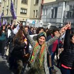 International Women's Day march in Istanbul, Turkey, March 8, 2016. Photo by Gulsum Agaoglu. http://www.al-monitor.com/pulse/originals/2016/03/turkey-erdogan-wary-of-women.html#