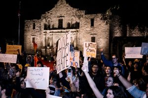 Protest at the Alamo in San Antonio, Texas, Nov. 12. Photo by Geoff Livingston flickr.com/photos/geoliv/25292738489/