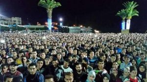 Peaceful march in Rabat, Morocco on Nov. 7, 2016, in protest of the death of fishmonger Mohsen Fikri.
