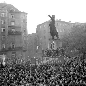 The Oct. 23, 1956, rally in Budapest at the statue of General Bem, a Pole who fought with the Hungarians in the 1848 revolution, expressed Hungarians' solidarity with striking Polish workers. This rally touched off the Hungarian Revolution.