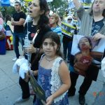 Demonstration in Chicago, Aug. 24, 2013, shortly after Assad used sarin gas on civilians killing over a thousand.