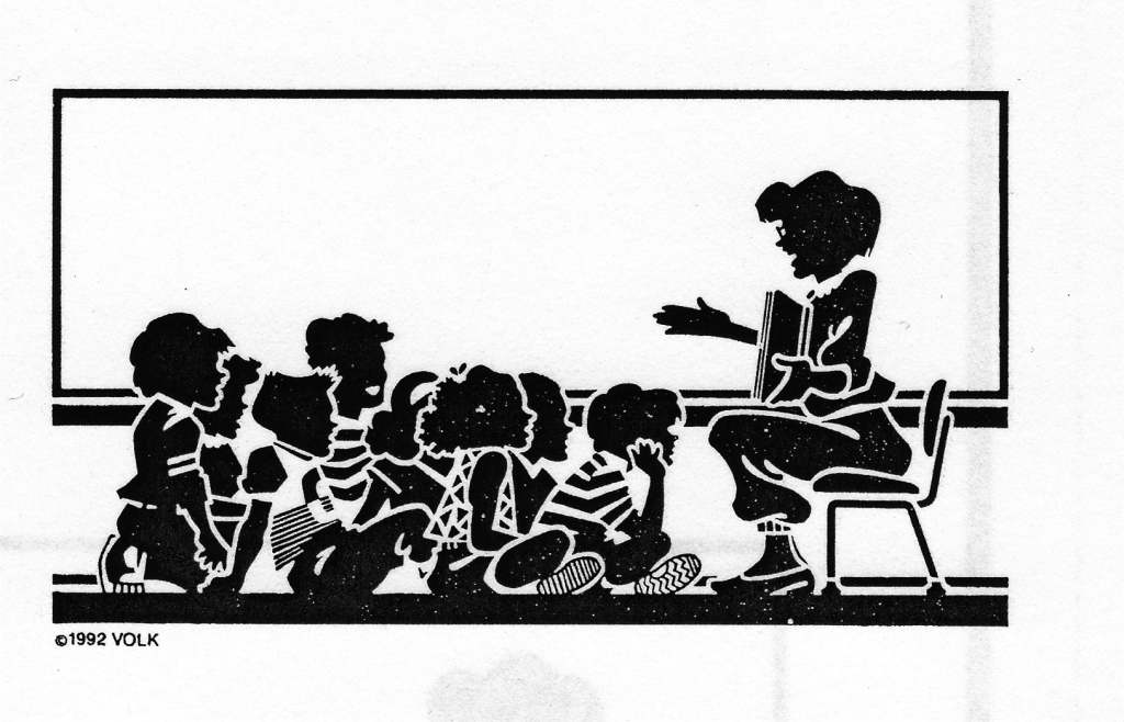 Teacher to her class-graphic