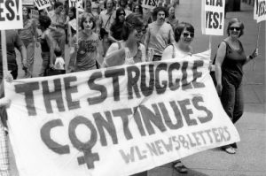 Contingent of Women's Liberation--News & Letters marches in demonstration for the ERA in 1977 in Detroit