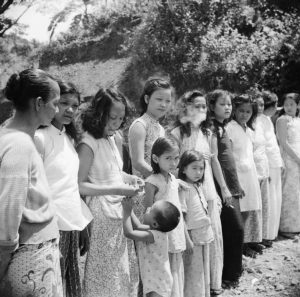 Chinese and Malayan women and girls forcibly taken from Penang by the Japanese to work as sex slaves for the troops. Photo credit: Wikipedia.