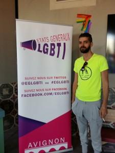 Shams activist. Photo credit: Facebook: Shams - Pour la dépénalisation de l'homosexualité en Tunisie