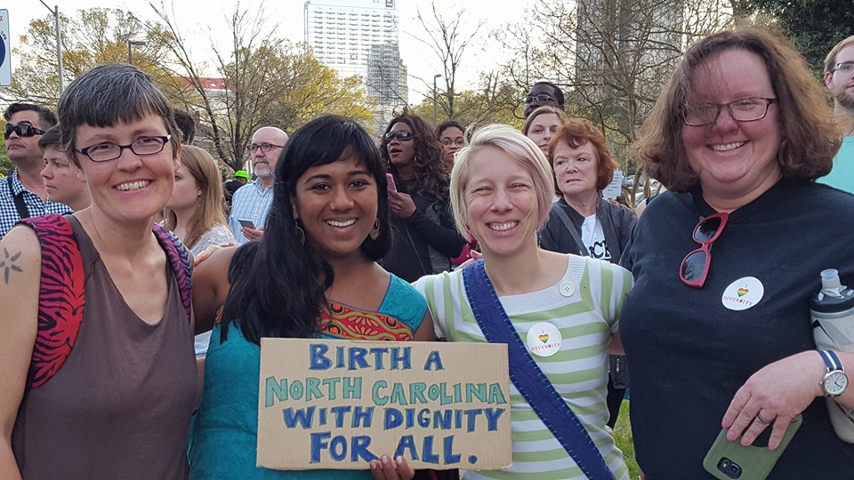 From the March 24, 2016, protest in Raleigh, N.C. Photo by Bridgette.