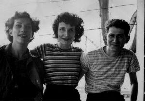 Olga with Genora Johnson Spring 1949