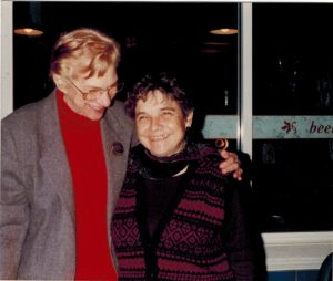 Olga Domanski with poet Adrienne Rich in 1994. They maintained a correspondence until Rich died in 2012. Photo: News & Letters