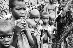 Up to two million civilians died in the Nigerian-Biafran war—many of them children—from starvation and disease. The war for Biafran independence lasted from July 6, 1967, to Jan. 15, 1970.