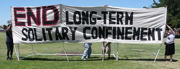 Protest against solitary confinement in California prisons