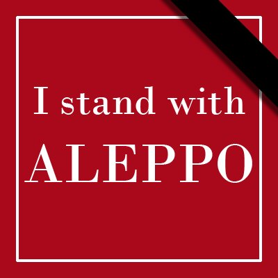 I stand with Aleppo