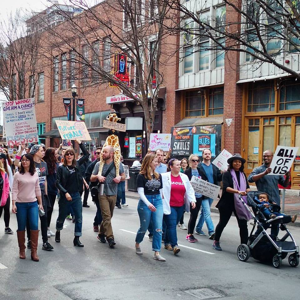Some of the 15,000 marching in Nashville. Photo by Angela Callicutt.
