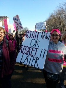 Resist now or regret it later! From the Jan. 21, 2017, Chicago Women's March. Photo by Terry Moon for News & Letters.