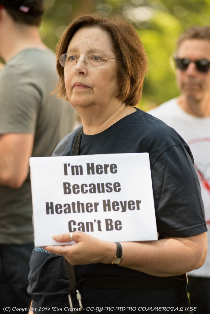 Demonstrator in Boston who spoke for many. Photo: Tim Carter